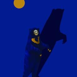 """Proposta per """"Animali Notturni"""", l'orso della luna zombie."""