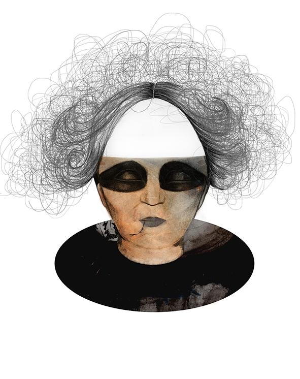 Female. Progetto creazione donna ideale per la creatura di Victor Frankenstein. Matita, acrilico e digitale