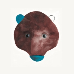 My bear. Acrilico, collage e pastelli a olio